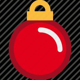 ball, christmas, decoration, holiday icon