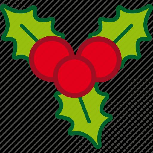 christmas, decoration, holiday, mistletoe, ornament icon