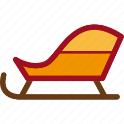 christmas, sled, snow, winter icon