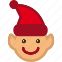 christmas, elf, helper, santa icon