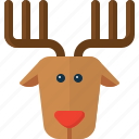 christmas, deer, raindeer, rudolf, santa, xmas icon