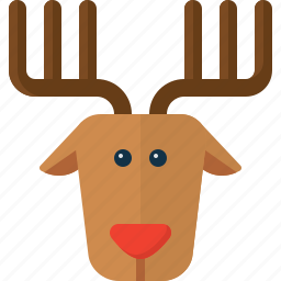christmas, deer, raindeer, rudolf, santa, xmas icon
