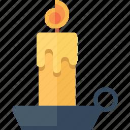 candle, christmas, decoration, flame, xmas icon