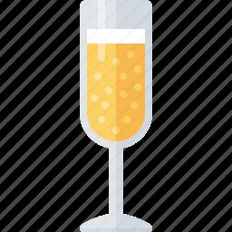 alcohol, beverage, celebration, champagne, drink, glass icon