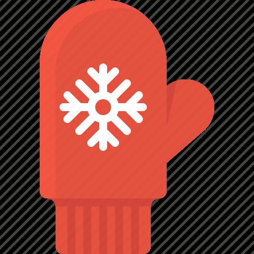 christmas, cold, glove, mitten, snowflake, winter, xmas icon