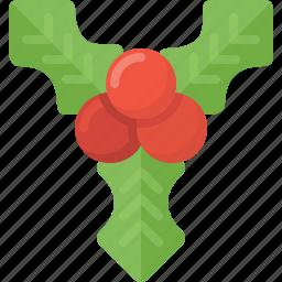 christmas, decotation, mistletoe, xmas icon