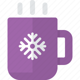 christmas, cup, drink, hot drink, snowflake, xmas icon