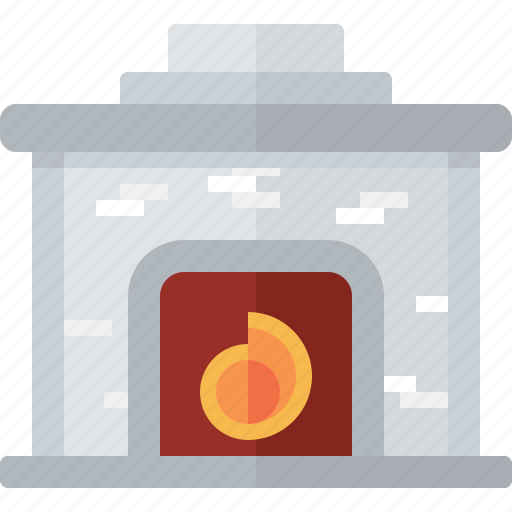 cozy, fire, fireplace, flame, hearth icon
