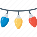 bulb, celebration, christmas, decoration, electric, lights, xmas icon