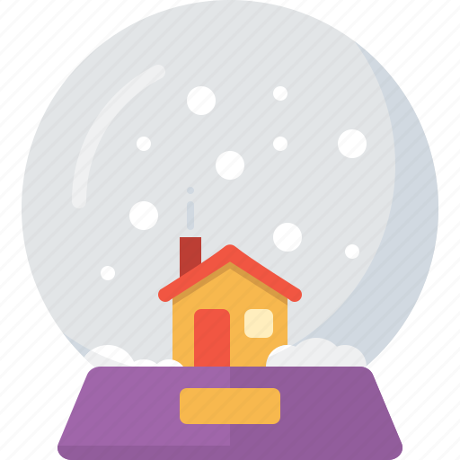 ball, christmas, decoration, landscape, snow, snowglobe, xmas icon