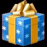 štědrovečerní, dárku, přítomný icon