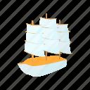 yacht, design, cruise, ship, marine, cartoon, boat