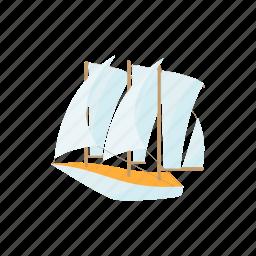 boat, cartoon, cruise, design, marine, ship, yacht icon