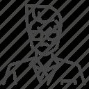 face, gangster, mafia, yakuza icon