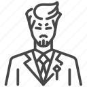 boss, leader, mafia, manager, yakuza icon