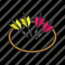 arrow, dart, games, lawn dart, target, yard game, yarn darts icon