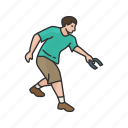 games, horseshoe player, horseshoes, lawn game, male player, player, yard games icon