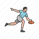 flying disc, frisbee, games, throw, throwing frisbee, yard games icon