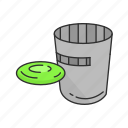 cans, flying disc, frisbee, games, kan jam, yard game s icon