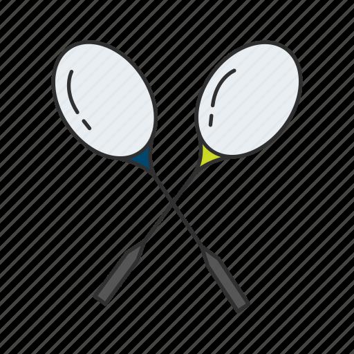 badminton, badminton racket, outdoor game, racket, sports equipment, yard games icon