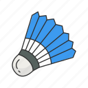 badminton, game, outdoor game, shuttle, shuttlecock, yard game icon