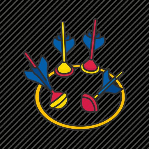 croquet, darts, games, lawn dart, outdoor game, yard darts, yard games icon