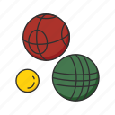 ball, ball game, ball sports, bocce ball, game, sports, yard games icon