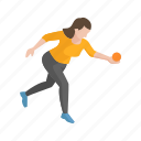bocce ball, bocce player, female player, games, player, yard games icon