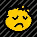 emojis, emoji, face, emotion, pensive, sad, sorrowful