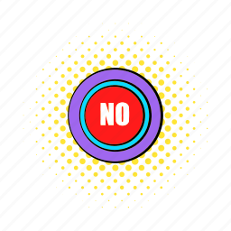 comics, negative, no, refuse, rejection, text, word icon