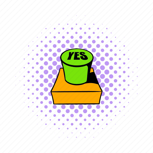 circle, comics, push, reflection, round, website, yes icon