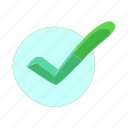 cartoon, correct, green, internet, mark, ok, tick icon