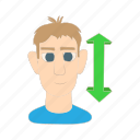 adult, cartoon, front, male, nod, ok, person icon