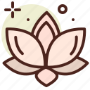 asia, lotus, meditation icon