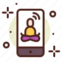 app, asia, meditation, yoga icon