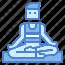 man, yoga, lotus, exercise, pose, meditation