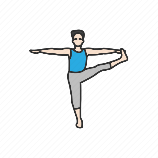 exercise, extended hand pose, fitness, health, workout, yoga, yoga pose icon