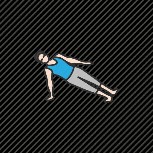fitness, meditation, planking, side planking, vasisthasana, yoga, yoga pose icon