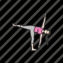 ardha candrasana, asanas, exercise, fitness, halfmoon pose, yoga, yoga pose icon