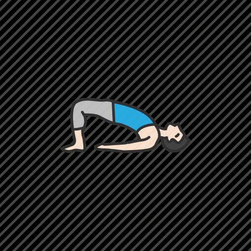 bridge pose, exercise, fitness, setu bandhasana, yoga, yoga pose icon