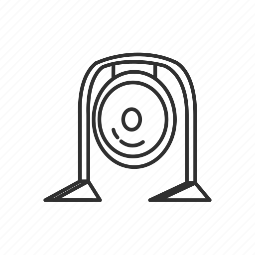 alarm, bell, chime, cymbal, gong, warning, yoga icon