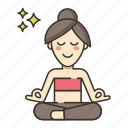 chakra, meditation, yoga icon