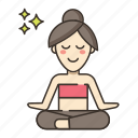 fitness, meditation, yoga icon