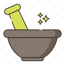 bowl, mortar, yoga icon