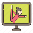 internet, online, yoga icon
