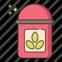 box, tea, yoga icon