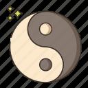 yang, yin, yoga icon
