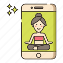 app, interaction, yoga icon