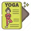 journal, meditation, yoga icon