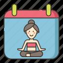 calendar, schedule, yoga icon